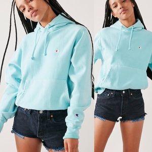 NWT CHAMPION reverse weave sky blue dye hoodie sm